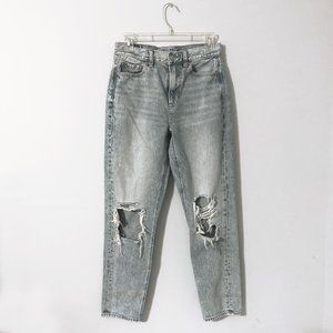 American Eagle Distressed Mom Jeans in Size 2